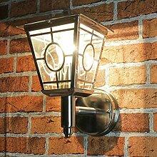 Stilvolle Wandlampe Edelstahl Glas außen H:29cm