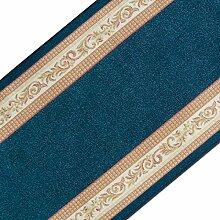 Stilvoller Teppichläufer mit brillianten Farben   hochwertige Meterware, gekettelt   Kurzflor Teppich Läufer   Küchenläufer, Flurläufer (80x100 cm)