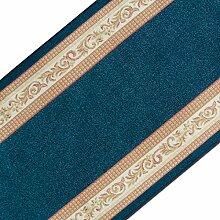 Stilvoller Teppichläufer mit brillianten Farben   hochwertige Meterware, gekettelt   Kurzflor Teppich Läufer   Küchenläufer, Flurläufer (80x600 cm)