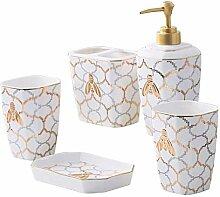 Stilvolles nordisches Keramik-Badezimmer &