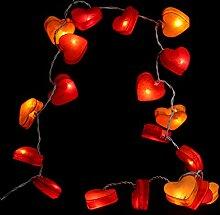 Stimmungs Lichterkette Herz zum dekorieren für