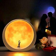 Stimmungslampe mit Mond, Hochzeitsgeschenke oder