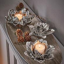 Stimmungsvolle florale Teelicht-Dekoration