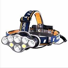 Stirnlampe, 8 LED Kopflampe taschenlampe extrem