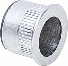 Stirnziehgriff Schiebetür-Muschelgriff Möbelgriff für Holztüren - MT05 | Chrom matt | Ø 29 mm | Möbelbeschläge von GedoTec®