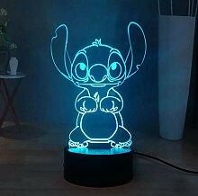 Stitch LED Night Light, Lilo & Stitch 16 Farben 3D