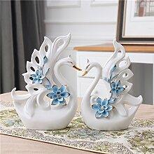 STJK$BMJW Heimtextilien Ornamente Verzieren Brautgemachs Keramik Schmuck Dekoration Basteln Hochzeit Geschenk Weinschrank Zimmer, Blau