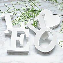 STJK$BMJW Hochzeit Hochzeit Zimmer Einrichtung Heimtextilien Englisch Schreiben Liebe Dekoration Shop, Einen Satz Von [Weiß]