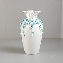 STJK$BMJW Keramik Vase Dekoration Wohnzimmer Tv-Schrank Tisch Drei Sätze Von Heimtextilien Dekorationen, Große Weiße Blumen