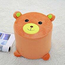 STJK$BMJW Stoffe Für Schuhe Und Home Werkbank Kinder Erwachsene Schlafzimmer Baby Home Hocker Orange (30 * 25 Cm)