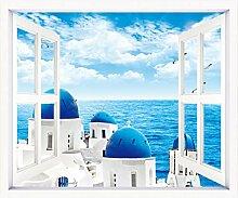 StMiYi Wandsticker Kinderzimmer,3D-Stereo-Fenster