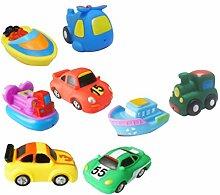 STOBOK 8Pcs Boot Badespielzeug mit Autos Spielzeug