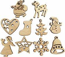 STOBOK Christbaumanhänger Holz Weihnachtsmotiv
