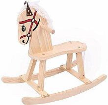 STOBOK Kinder Baby Schaukelpferd Schaukeltier Holz