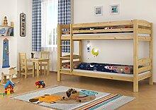 Stockbett Etagenbett Kiefer 90x200 massives Hochbett f. Kinderzimmer Doppelbett m Rollrost 60.10-09