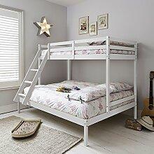 Stockbett für 3, Meterware, Weiß