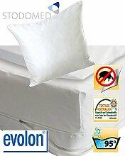 STODOMED EVOLON Matratzenvollbezug für Hausstaubmilben Allergiker Encasing Milbenkotdicht 100x200 cm cm atmungsaktiv Faserstruktur aus Mikrofilamenten