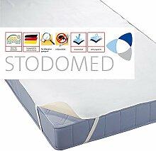 STODOMED Wasserundurchlässige Matratzenauflage Molton mit Eckgummis Qualität aus Deutschland in verschiedenen Größen (200x200cm)