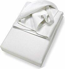 STODOMED weiche Molton Matratzenschutz Inkontinenz Fixspannauflage Größe 100 x 200 cm Matratzenspannauflage Einfaßband + 4 Eckgummis