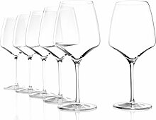 Stölzle Burgunder Rotweingläser Experience, 695 ml 6 Gläser Set Hugo Gläser Weinglas, formschöne Rotweinkelche aus edlem Kristallglas , spülmaschinenfes