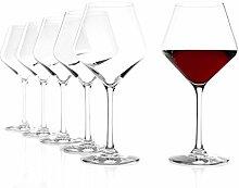 Stölzle Lausitz Burgundergläser Revolution, 545ml, 6er Set Weinglas, hoch funktionelle Rotweingläser, charaktervolle Rotweinballons, spülmaschinenfes