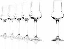 Stölzle Lausitz Grappaglas 6er Set, 87ml Gläser, wie mundgeblasen, spülmaschinenfest, hochwertige Qualitä