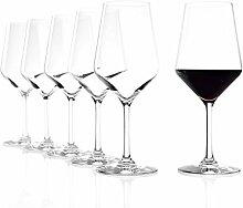 Stölzle Lausitz Rotweingläser Revolution, 490ml, 6er Set Weinglas, hoch funktionelle Roweinkelche, Rotweinglas für viele Rebsorten, spülmaschinenfes