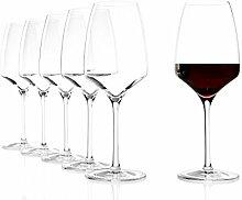 Stölzle Lausitz Rotweinkelch Experience 450ml, 6er Set Weinglas, hochwertige Qualität, spülmaschinenfes