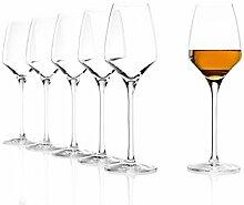 Stölzle Lausitz Süßweingläser Experience 190ml, 6er Set Weinglas, wie mundgeblasen, spülmaschinenfest, hochwertige Qualitä