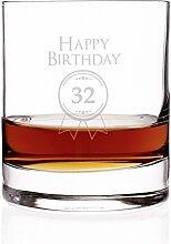 Stölzle Lausitz Whiskyglas zum 32. Geburtstag - tolle Geschenkidee für Männer