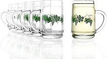 Stölzle Oberglas Robuste Weinkanne 0,25 l 6er Set