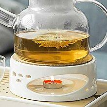 Stövchen Teekanne Porzellan Heizung Keramik Weiß