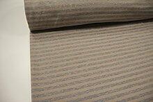 Stoff / 100cmx140cm / Kinder / beste Fleece-Sweat-Qualität / Alpenfleece (Sweat/Fleece) Streifen grau meliert - beige