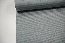Stoff / 100cmx140cm / Kinder / beste Fleece-Sweat-Qualität / Alpenfleece (Sweat/Fleece) Streifen grau meliert - min