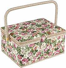 Stoff-Aufbewahrungsbox mit Blumenmuster, für den