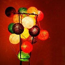 Stoff Ball Lichterkette (Farbige Kugeln) / Kugel