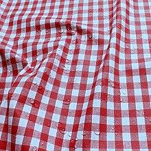 Stoff Baumwolle Acryl Bauernkaro rot weiß