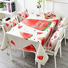 Stoff Baumwolle Bettwäsche Garten Tee Tisch Gabe/Tisch-abdeckung-E 140x200cm(55x79inch)