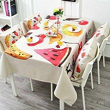 Stoff Baumwolle Bettwäsche Garten Tee Tisch Gabe/Tisch-abdeckung-A 140x200cm(55x79inch)