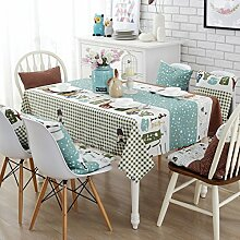 Stoff baumwolle leinen garten frische tee tisch stoff,tisch tuch mit rechteckigen tischtuch-B 45x45cm(18x18inch)