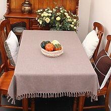 Stoff baumwolle leinen,home tischdecke,vintage tischdecke,volltonfarbe moderne landschaft american style american style edge teetisch sauber längliche tischdecke.mehrere farben.-L 130x180cm(51x71inch)