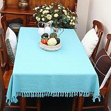 Stoff baumwolle leinen,home tischdecke,vintage tischdecke,volltonfarbe moderne landschaft american style american style edge teetisch sauber längliche tischdecke.mehrere farben.-B 140x210cm(55x83inch)
