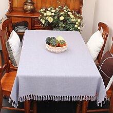 Stoff baumwolle leinen,home tischdecke,vintage tischdecke,volltonfarbe moderne landschaft american style american style edge teetisch sauber längliche tischdecke.mehrere farben.-C 130x190cm(51x75inch)