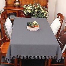 Stoff baumwolle leinen,home tischdecke,vintage tischdecke,volltonfarbe moderne landschaft american style american style edge teetisch sauber längliche tischdecke.mehrere farben.-F 130x180cm(51x71inch)