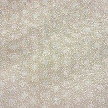 Stoff Baumwolle Meterware Moony Kreise retro beige weiß aus Frankreich