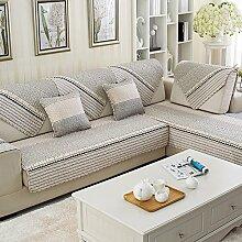 Stoff Baumwolle Slip Sofakissen/Europäische four Seasons allgemeine Sofa einfache Servietten-O 90x210cm(35x83inch)