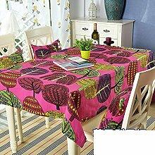 Stoff baumwolle tischdecke/ländliche kleine frische tee-tisch tischtuch-E 140x140cm(55x55inch)