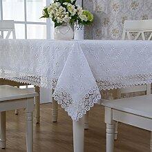 Stoff Bestickt Garten Tischtuch,Cross Stitch Tischdecke,Tisch Tuch Tisch Set-A 130*180cm(51x71inch)