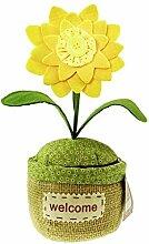 Stoff Blume in Sackleinen Topf Türstopper Prop Türstopper Stopper Gewicht gelb
