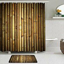 Stoff Duschvorhang und Matten